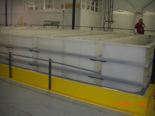 Long tank electroplating line installed before plating
