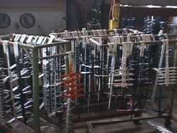 Commercial anodizing racks
